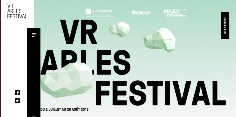 Master class au VR Arles Festival du 24 au 26 aout2018
